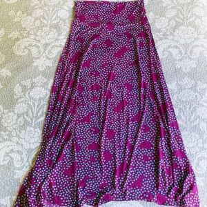 LuLaRoe purple with teal and red hearts maxi Skirt